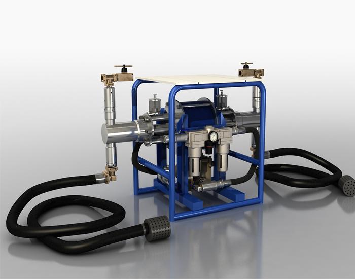 煤矿气动双液注浆泵