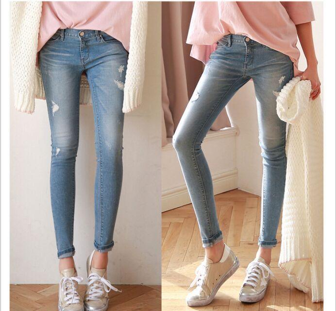 便宜时尚牛仔裤清货厂家清仓处理牛仔裤