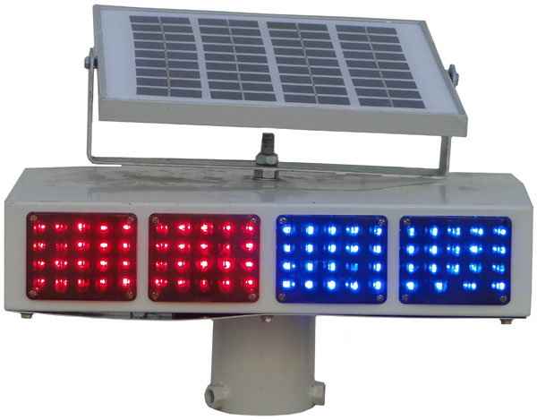 开平新昌区太阳能4单元双面爆闪灯厂家报价