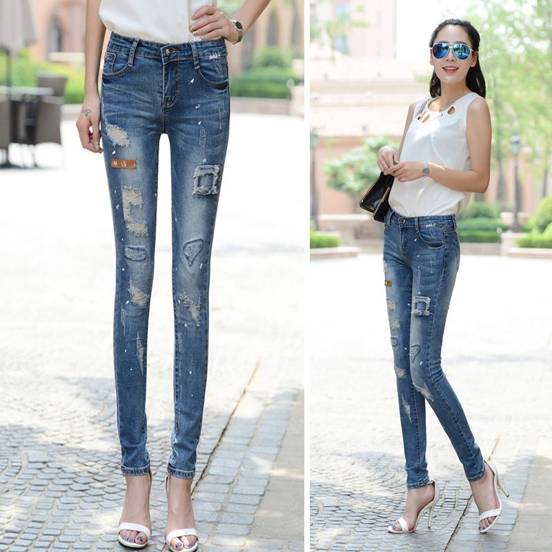 工厂清货牛仔裤时尚便宜牛仔长裤清货