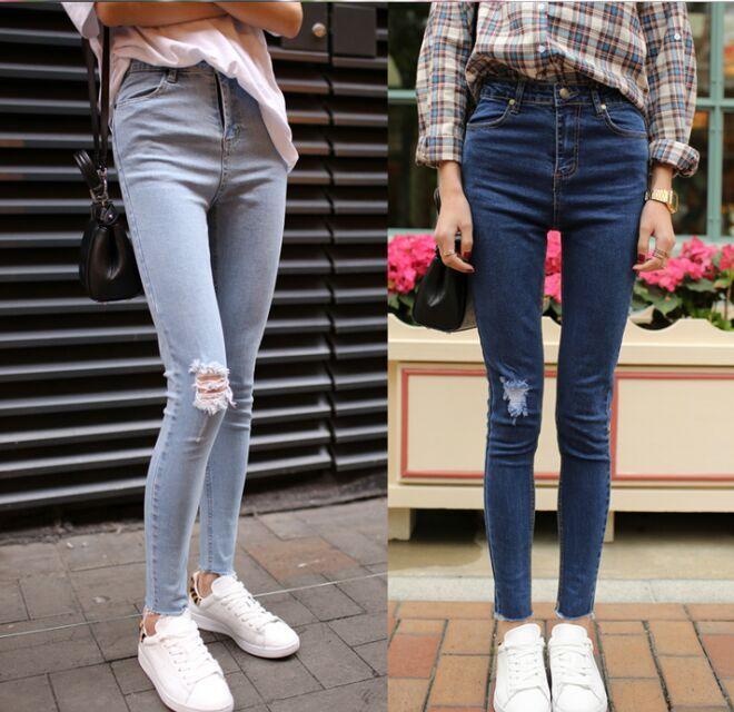 便宜女士牛仔裤批发尾货秋季女士小脚裤清货