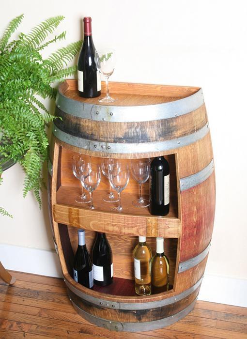 橡木桶红酒展示架