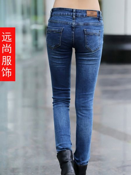 东莞四季批发拿货便宜修身牛仔裤外贸牛仔裤