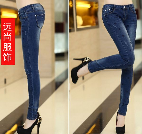 大量时尚尾货女装牛仔裤供货超便宜批发在