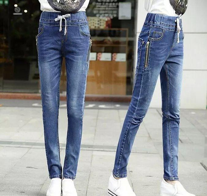秋冬女士牛仔裤批发厂家直销便宜女士牛仔裤
