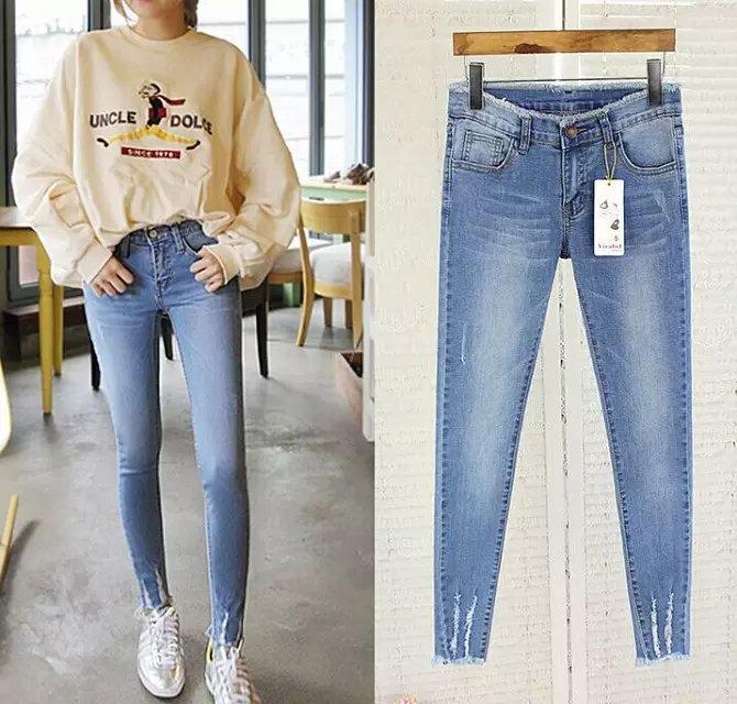 哪里有便宜时尚铅笔清仓最低价的牛仔裤批发