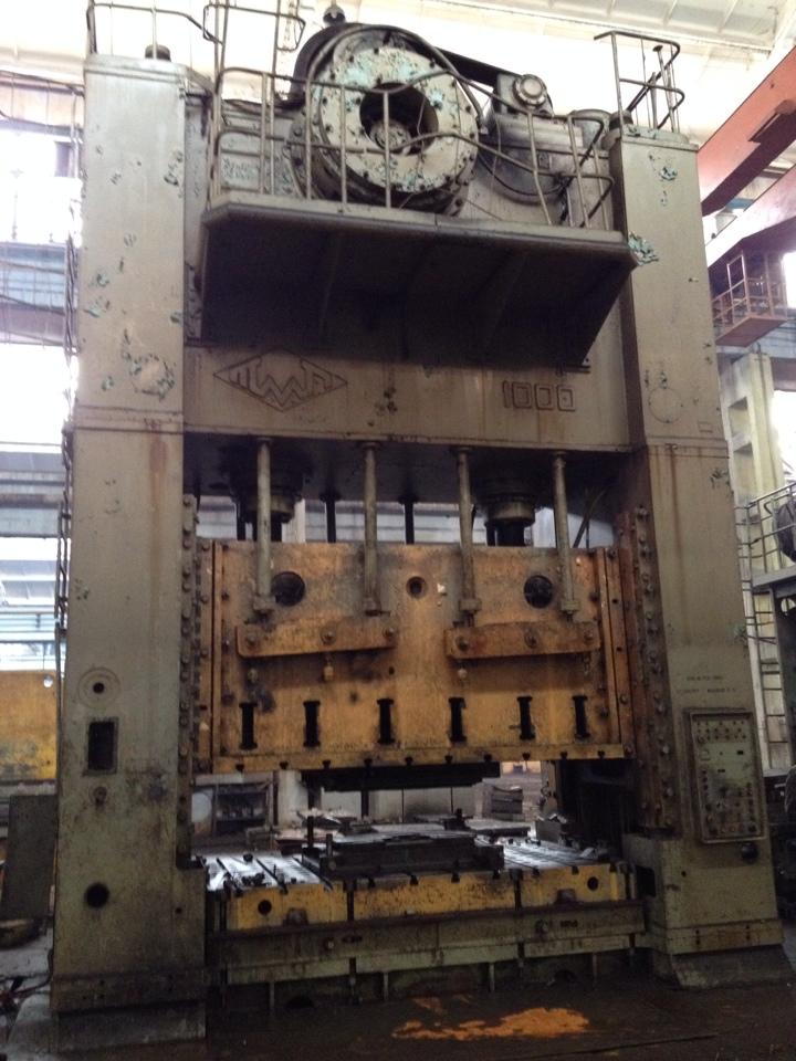 俄罗斯1000吨双点压力机
