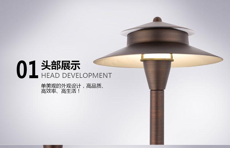 美式纯铜草地灯P05 UL认证便捷安装别墅庭院灯