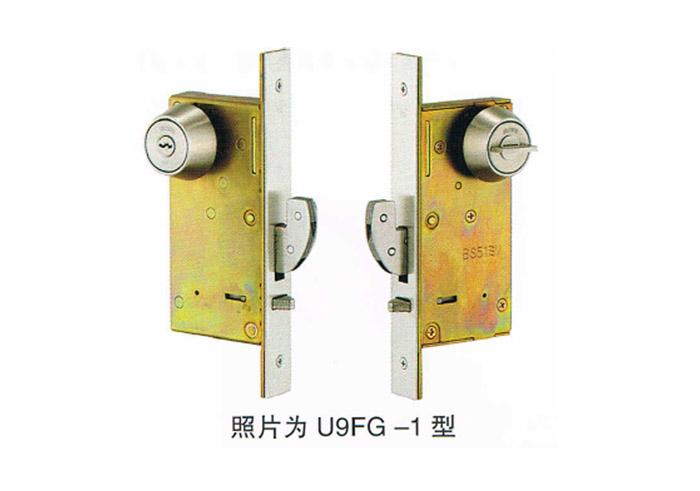 U9FG-1型单轨道推拉移门钩形锁日本MIWA门锁